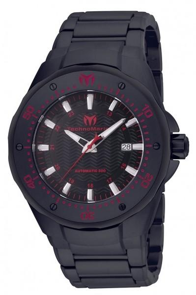 TechnoMarine Manta Sea Automatic TM-215097 Black IP Steel Herrenuhr