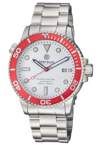 Deep Blue Master 1000 Red-White-USA Steel