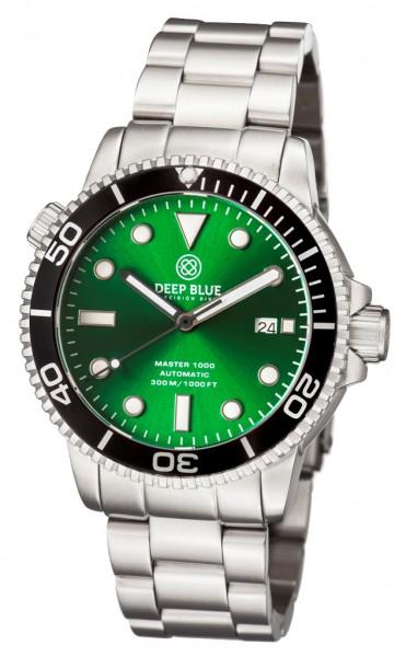 Deep Blue Master 1000 Green-Black Steel