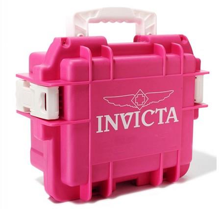 Invicta Stoßfester Uhrenkoffer Magenta 3