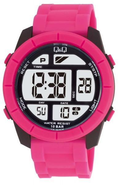 Q&Q Chrono M123J003Y Unisex Pink Armbanduhr