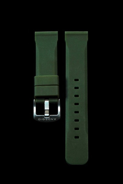 ANDROID Gummiarmband 22mm Green