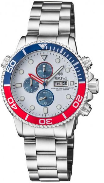 Deep Blue Master 1000 Chrono White-Blue-Red USA Steel