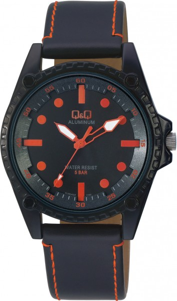 Q&Q Aluminum AL08J532Y Unisex Orange Armbanduhr