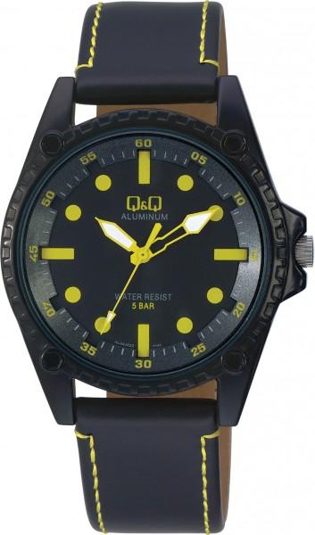 Q&Q Aluminum AL08J522Y Unisex Gelb Armbanduhr
