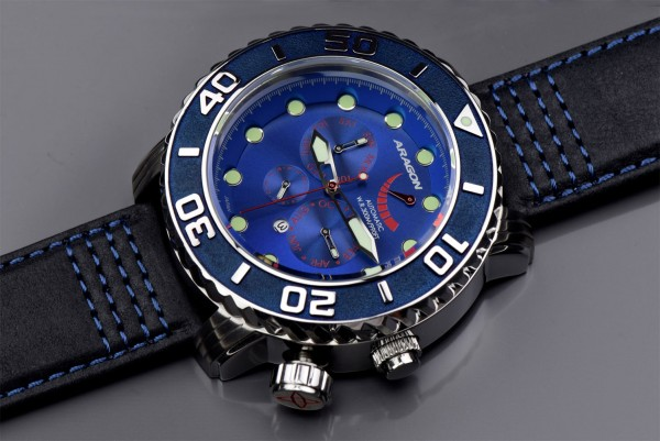 ARAGON Gauge 9100 Automatic Blue Leather