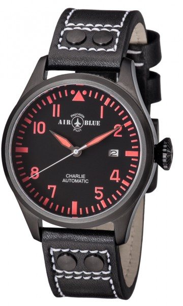 Air Blue Charlie Automatic PVD Black-Red 44mm
