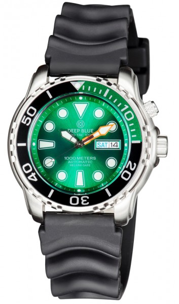 Deep Blue ProTac Diver 1000m Green-Black-Green Automatic