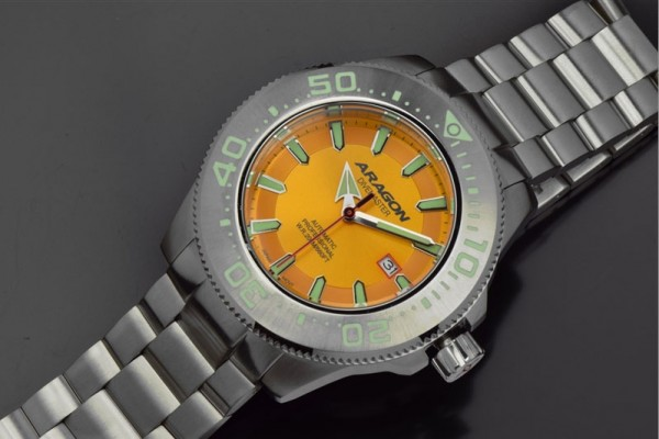 ARAGON Divemaster II Orange Automatic 50mm Steel