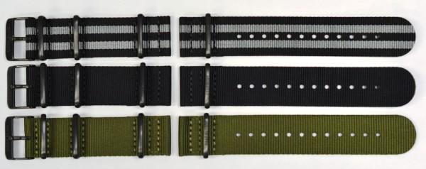 Deep Blue Nato Zuto Nylon Armband 22mm PVD