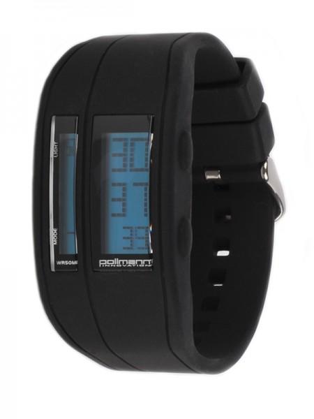 Pollmann Sportwatch Chrono Schwarz Armbanduhr