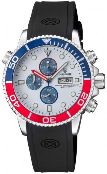 Deep Blue Master 1000 Chrono White-Blue-Red USA