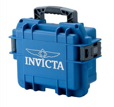 Invicta Stoßfester Uhrenkoffer Blau 3