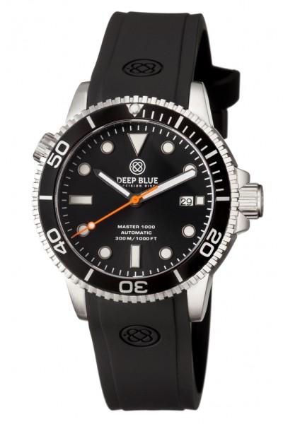 Deep Blue Master 1000 Black-Black-Orange