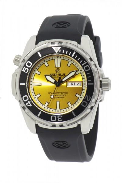 Deep Blue Sea Quest 1000m Quartz Yellow