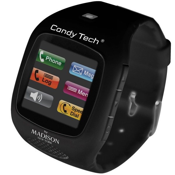 Madison New York Candy Tech Telefonuhr Black