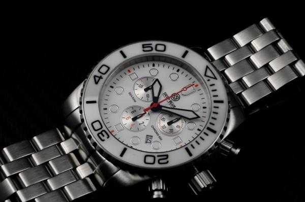 Deep Blue Sea Ram Chronograph 500m White-Black