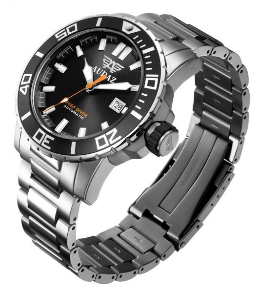 Audaz Reef Diver Swiss Black Automatic ADZ-2045-01 inkl. Gummiarmband