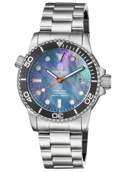 Deep Blue Diver 1000 Black-Black-MOP-Steel