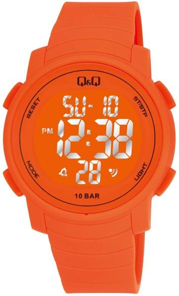 Q&Q Chrono M122J008Y Unisex Orange Armbanduhr