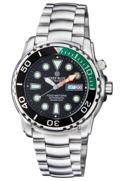 Deep Blue Sea Diver III 1000m Black-Green