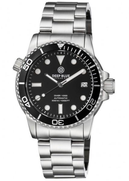 Deep Blue Diver 1000 Black-Black-Steel