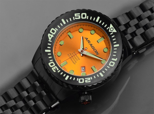 ARAGON Divemaster EVO 50 mm Automatic Orange IP