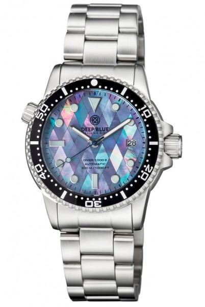 Deep Blue Diver 1000 II Diamond Pattern MOP Steel