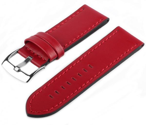 Uhren Lederarmband Rot PRO85 Glattleder