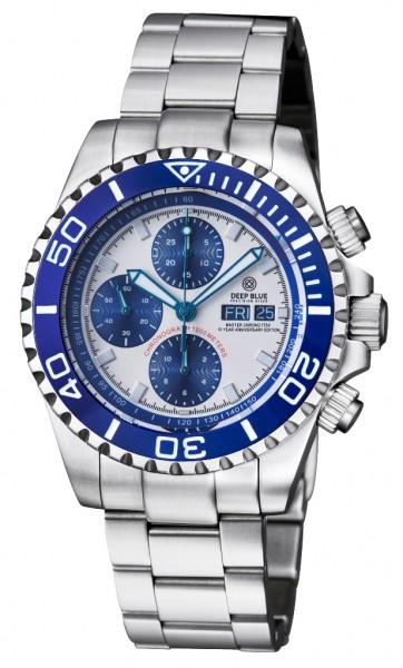 Deep Blue Master Chrono 7750 Blue-White