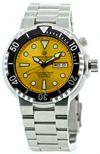 Deep Blue Sun Diver II 1000m Yellow