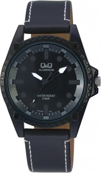 Q&Q Aluminum AL08J562Y Unisex Schwarz Armbanduhr