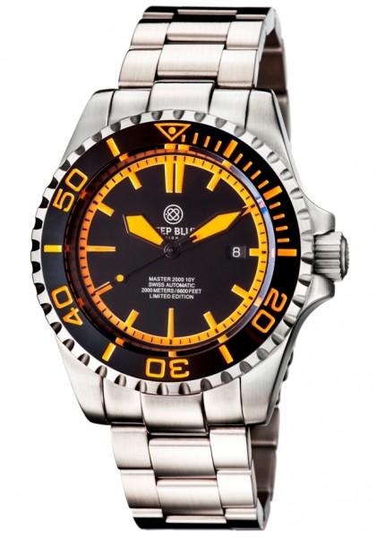 Deep Blue Master 2000m Orange-Black-Orange Limited Edition II