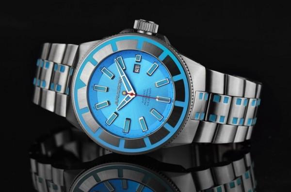 ARAGON Bioluminescence Blue 50mm Automatic
