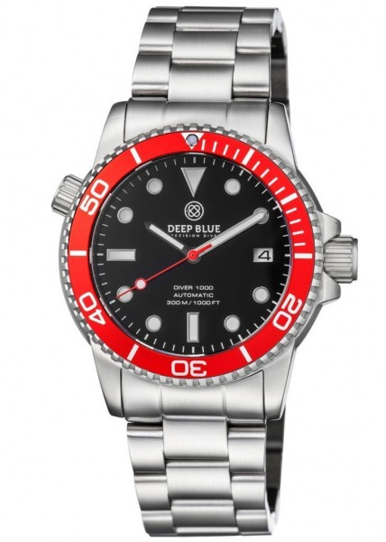 Deep Blue Diver 1000 Red-Black-Red-Steel