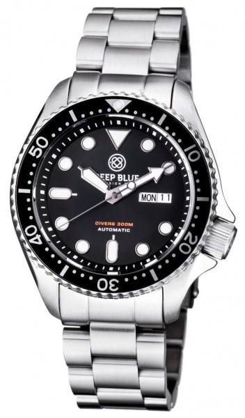 Deep Blue Nato Diver 300 Automatic Black Steel