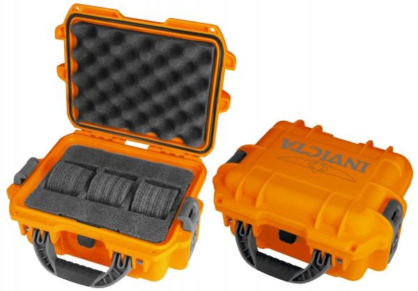 Invicta Stoßfester Uhrenkoffer Orange 3
