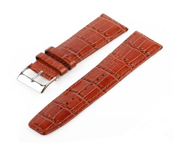 Uhren Lederarmban Braun MM12 Croco