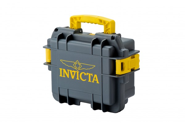 Invicta Stoßfester Uhrenkoffer Grau-Gelb 3