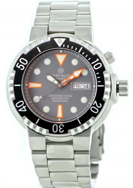 Deep Blue Sun Diver II 1000m Grey
