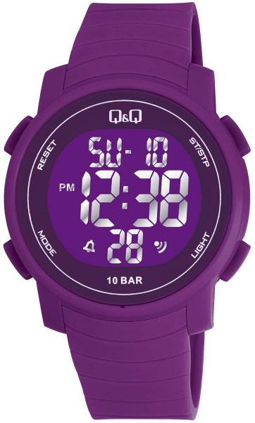 Q&Q Chrono M122J004Y Unisex Purple Armbanduhr