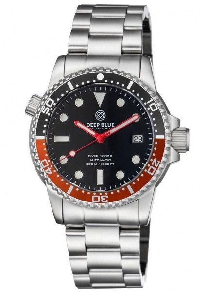 Deep Blue Diver 1000 II Black-Red-Black-Glossy Steel