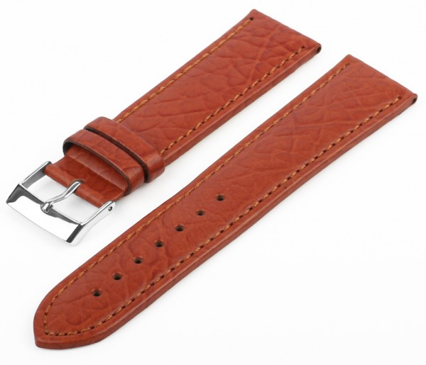 Uhren Lederarmband Braun G70 Genarbt
