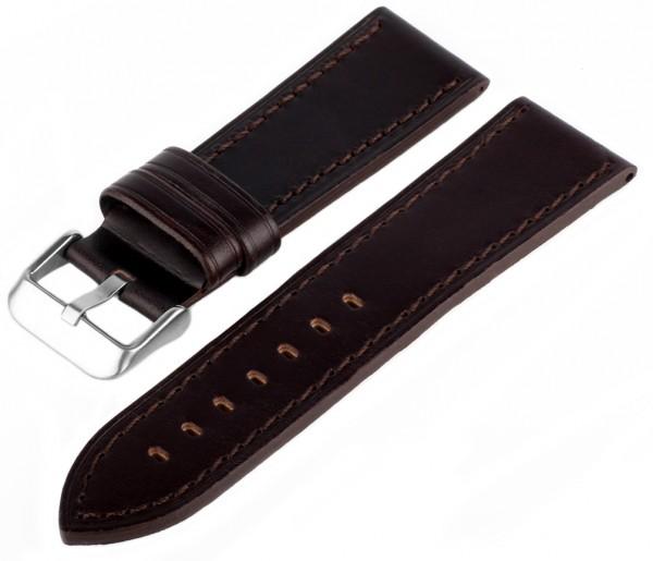 Uhren Lederarmband Braun MX201 Glatt