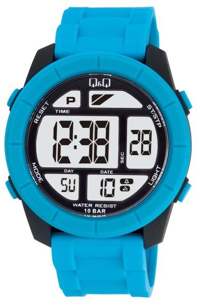 Q&Q Chrono M123J004Y Unisex Blau Armbanduhr