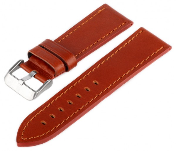 Uhren Lederarmband MC10 Braun-Braun Glatt