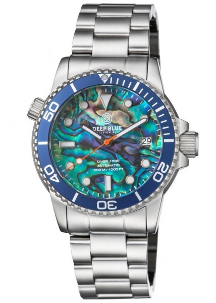 Deep Blue Diver 1000 Blue-Large-Abalone-Steel