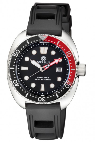 Deep Blue Military Diver 300 Black-Red