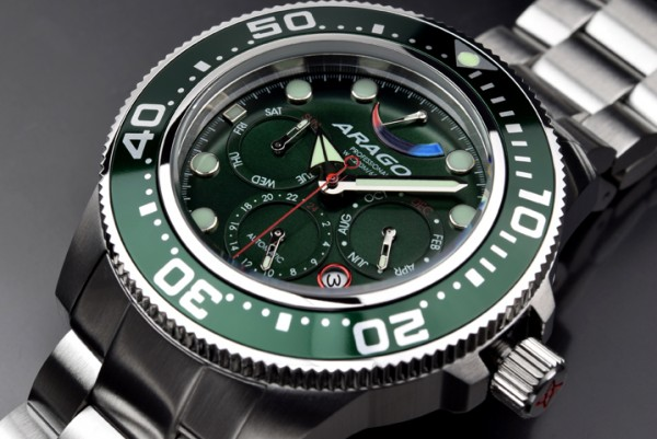 ARAGON Divemaster 9100 Automatic 45mm Green