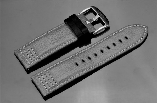 ARAGON Lederarmband 26mm Grey SL
